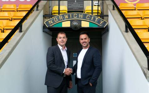 Ben_Kensell_and_Stephen_Crocker_at_the_launch_of_the_partnership_between_Norwich_City_and_Norwich_Theatre_Royal low res