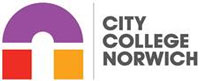 City College Norwich Logo with purple red and yellow 'n'