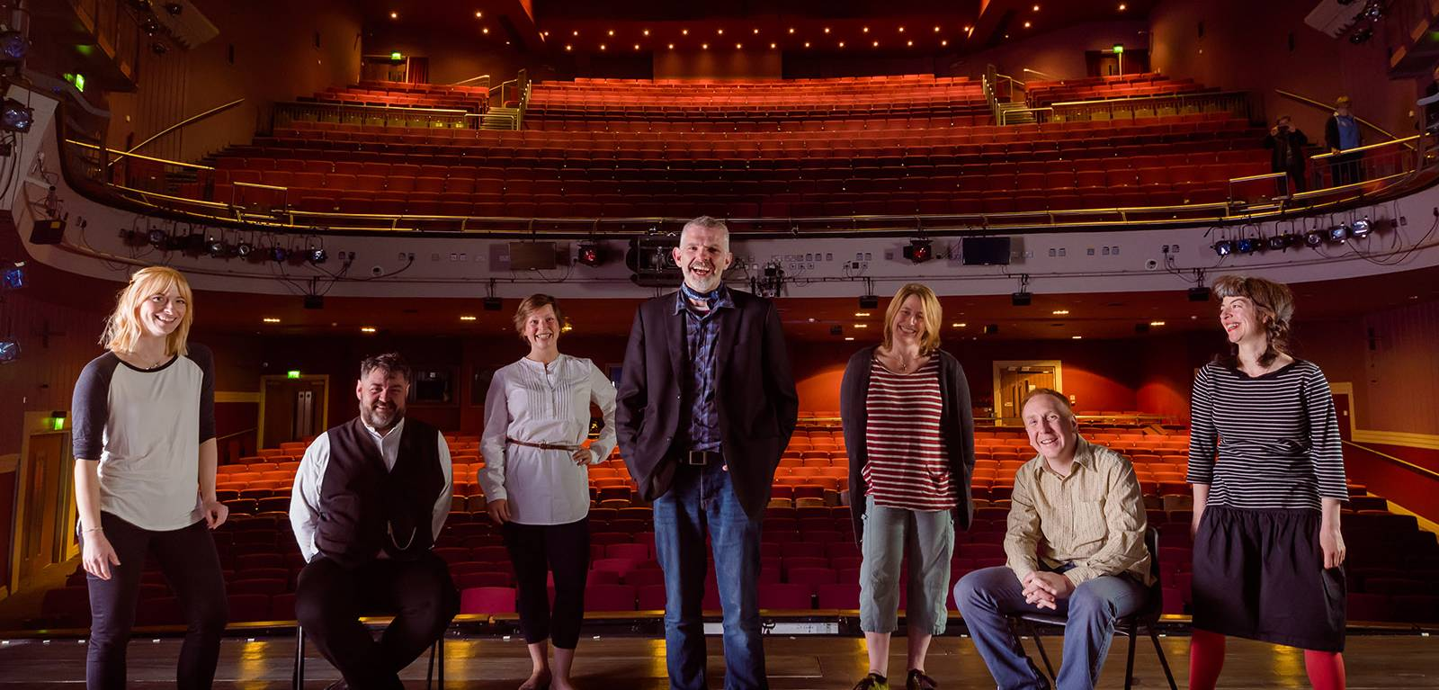 Members of RSC and The Common Lot on stage at the Theatre Royal
