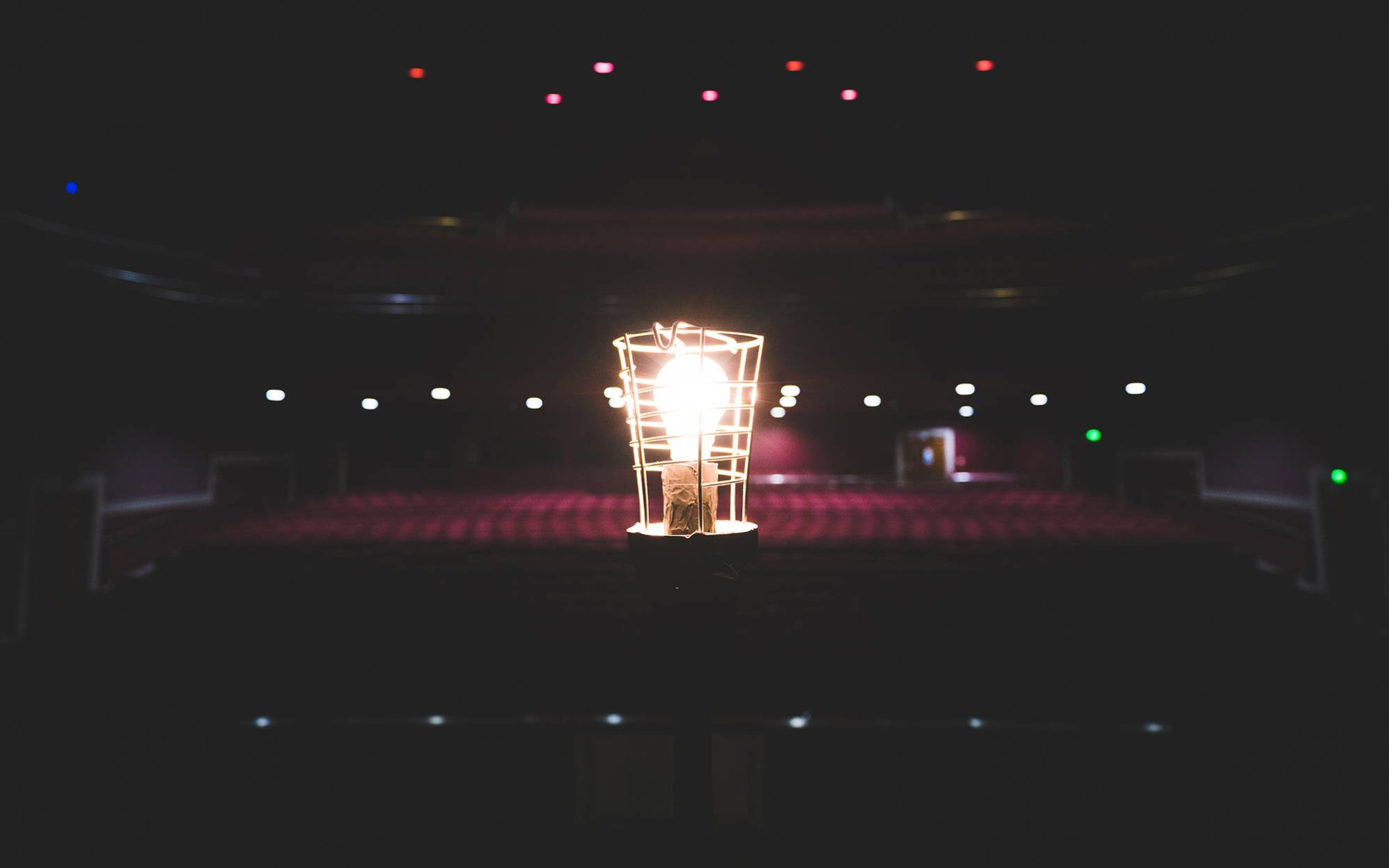 Ghost Light on Stage at Norwich Theatre Royal Auditorium